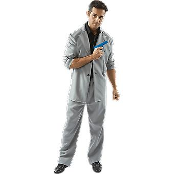 Mens Rico Tubbs Miami Vice 80s TV Grey Florida Detective Fancy Dress Costume