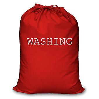 Rød vaskepose