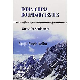 India-China Boundary Issues:� Quest for Settlement