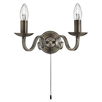 Richmond antik messing væglampe - projektør 1502-2AB
