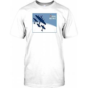 Royal Airforce - Lancaster Bomber, Spitfire And Hurricane Kids T Shirt