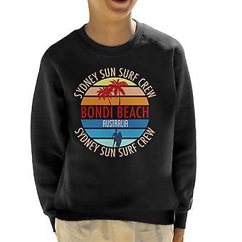 Bondi Beach Sydney Sun Surf Crew Retro Kid's Sweatshirt