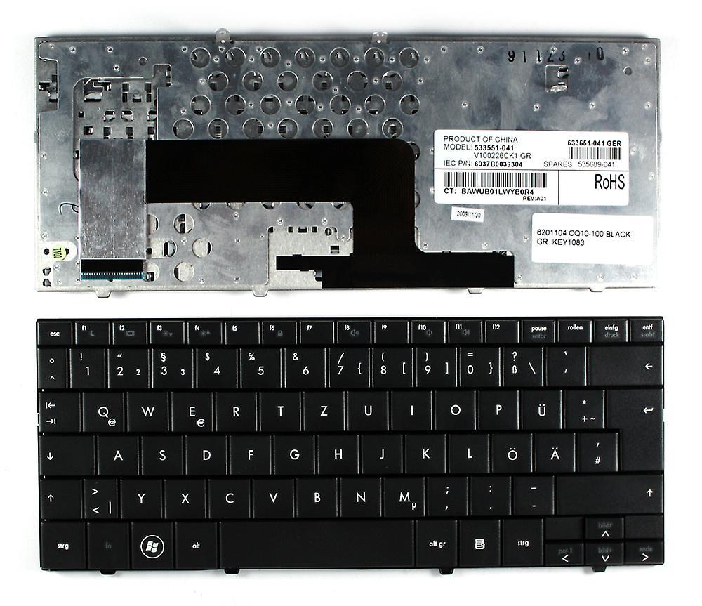 Compaq Mini CQ10-100SR noire disposition allehommede remplacement clavier d'ordinateur portable