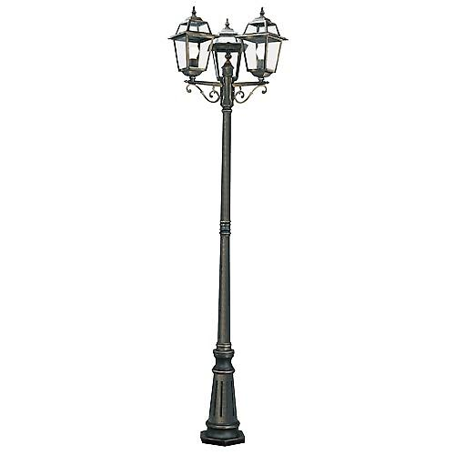 Searchlight 1528-3 New Orleans Traditional Aluminium Garden Lamp Post