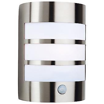 Firstlight-1 ljus stål Utomhusvägg ljus ljus, PIR rost fritt stål IP44-3430ST