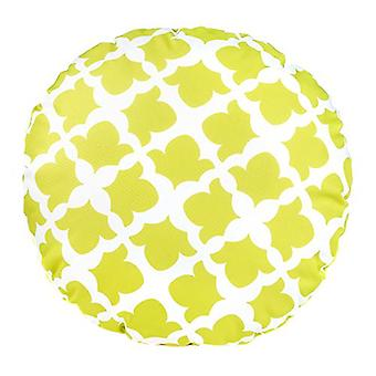 Gardenista® Arabesque Lime Design Water Resistant Round Scatter Cushion