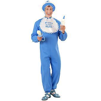 Baby Boy kostym flanell (Jumpsuit Bonnet BIB)
