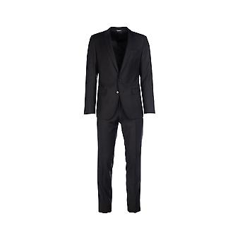 Dolce E Gabbana Black Cotton Suit