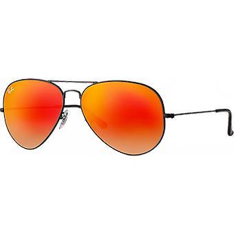 Ray - Ban Aviator mirrored Orange black gradient