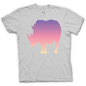 Barn T-shirt-Rainbow Rhino Psychedelic