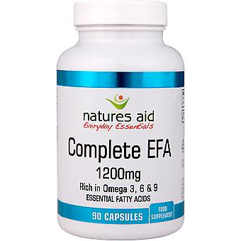Natures Aid Complete EFA (Essential Fatty Acids) 1200mg Omega 3, 6 & 9, 90 Capsules