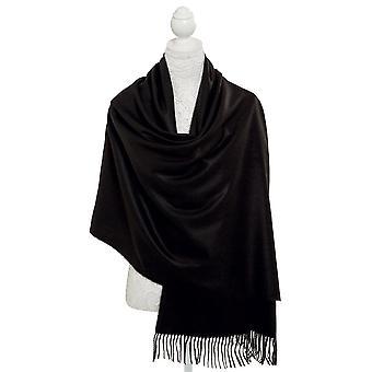 Eternal Collection Pashmina Black Oblong Soft Polyester Scarf
