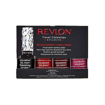 Revlon ColorStay Gel Envy 3+1 Geschenkset 3 x 11,7ml Nagellack + Deckmantel