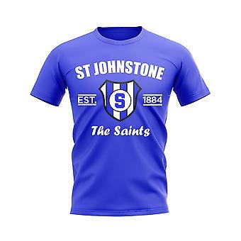 St Johnstone etabliert Fußball T-Shirt (Königlich)
