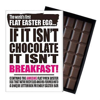 Grappige platte Easter Egg chocolade bar wenskaart cadeau mannen vrouwen vriend UK EIYF140