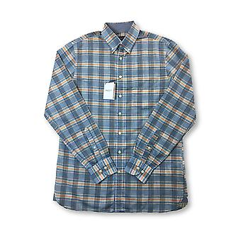 Hackett classic fit shirt in blue/orange check