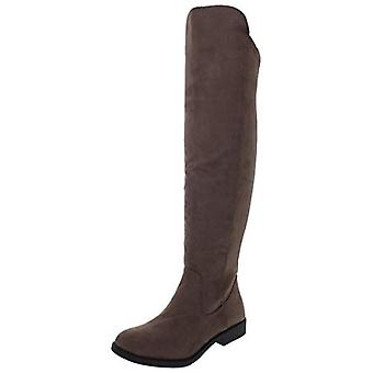Style & Co. Womens Hayley Faux Suede Zipper Riding Boots Taupe 6 Medium (B,M)
