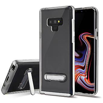 Silver/Transparent Clear Hybrid Protector Cover (w/ Magnetic Stand) for Galaxy Note 9