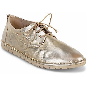 Marsll Women's Mode Runde Zehen Schnürschuhe aus platinlaminiertem Leder
