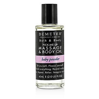 Masaje de polvo de bebé de Demeter y aceite corporal - 60ml / 2oz