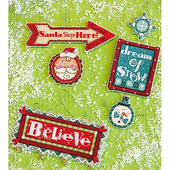 Whimsical Signs Ornaments Counted Cross Stitch Kit-14 Count Set Of 3 70-08953