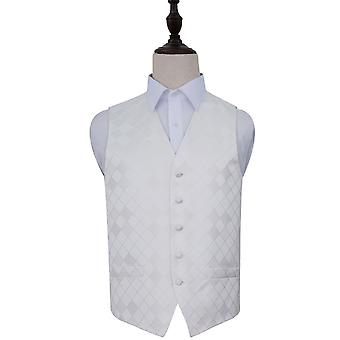 Ivory Diamond Patterned Wedding Waistcoat