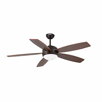 "Faro ceiling fan Vanu Brown 132 cm / 52"" with lighting"