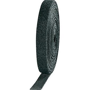 Hook-and-loop tape for bundling Hook and loop pad (L x W) 3000 mm x 10 mm Black TOOLCRAFT KL10X3000C 4 Rolls