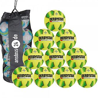 10 x DERBY STAR indoor soccer - INDOOR BETA Gr. 5 includes ball sack