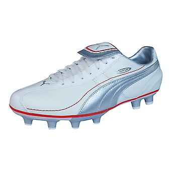 Puma King XL i FG Womens Leather Football Boots / Cleats - Silver