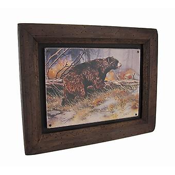 Big Sky Carvers Black Bear Bruin Wood Frame Wall Art