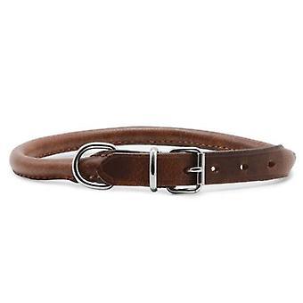 Heritage Leather Round Sewn Collar Chestnut 55-63cm Sz 8