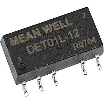 DC/DC converter (SMD) Mean Well 12 Vdc +15 Vdc, -15 Vdc +33 mA 1 W No. of outputs: 2 x