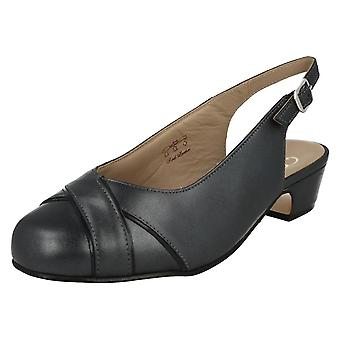 Ladies Equity Low Heel Slingback Shoes Cressy