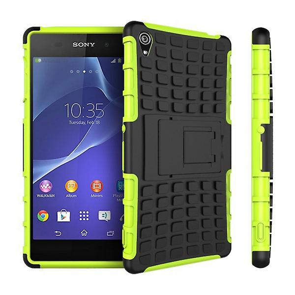 Hybrid Case 2teilig Robot Green for Sony Xperia Z3 Plus E6553 (+) and Dual