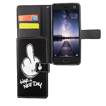 Mobile phone case pouch for mobile ZTE blade V8 have A nice day black