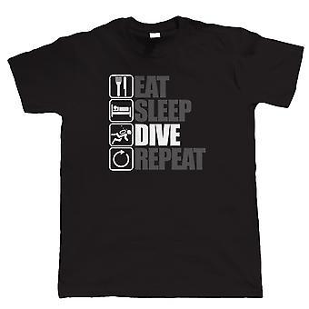 Spis Sleep dyk gentagelse, Herre dykning T Shirt