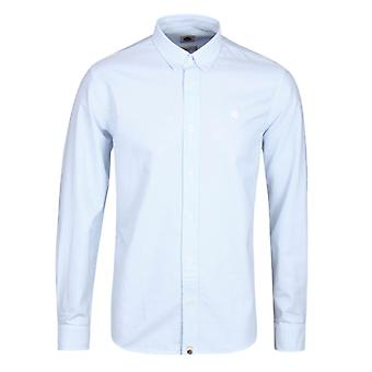 Pretty Green Sterling Sky Blue Long Sleeve Oxford Shirt