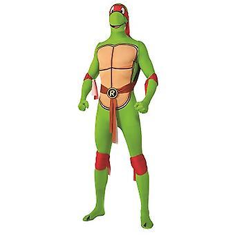 Raphael Teenage Mutant Ninja turtles tartaruga costume adulto pelle tesa