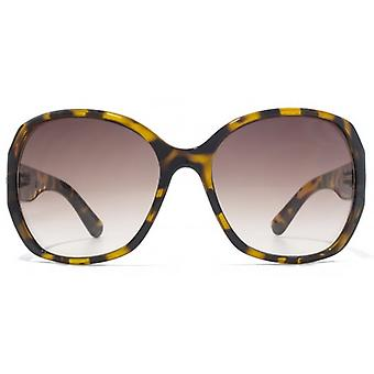 Karen Millen Metal Bar Detail Plastic Sunglasses In Tortoiseshell