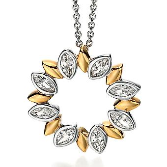 925 Silver Gold Plated And Zirconium Fashionable Necklace