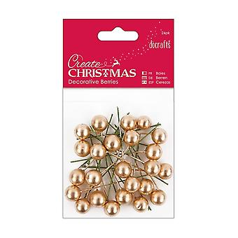 DoCrafts decoratieve goud bessen 24 Packs