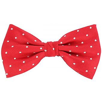 Knightsbridge Neckwear Spotted Silk Bow Tie - Red/White