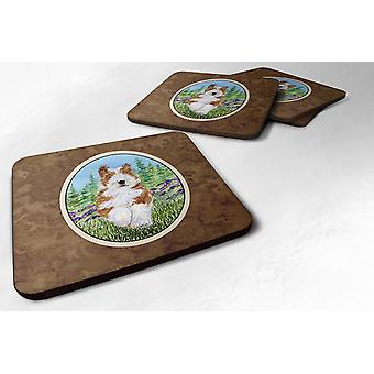 Carolines Treasures  SS8320FC Set of 4 Bearded Collie Foam Coasters