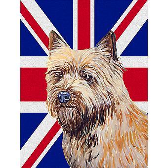 Cairn Terrier con dimensione del giardino inglese Union Jack British Flag Bandiera