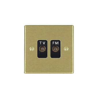 Hamilton Litestat Hartland Satin Brass Isolat TV/FM Diplex 1in/2out BL