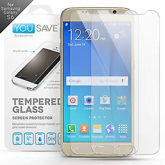 Samsung Galaxy S6 Glass Screen Protector - Twin Pack