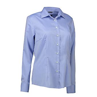 ID Womens/Ladies Easy Iron Modern Fit Button Down Shirt
