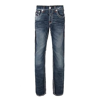 True Religion Hard Indigo Straight Natural Super T Jeans