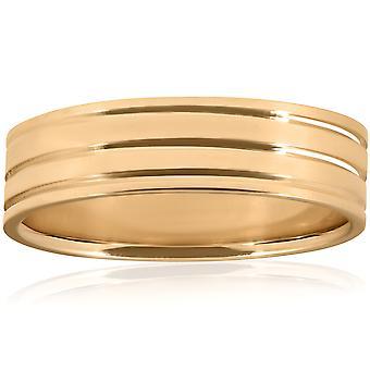 Lucidato anello di nozze 10K giallo oro